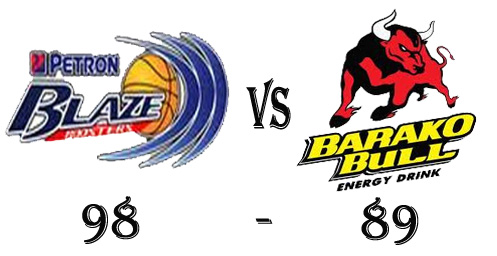 Petron Blaze won against Barako Bull on 2012-2013 PBA Philippine Cup Elimination Round 9th game