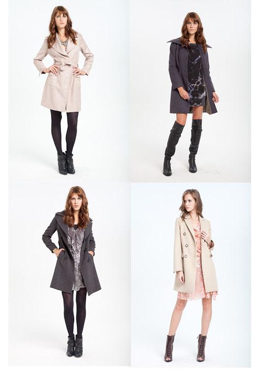casaco de inverno com vestido