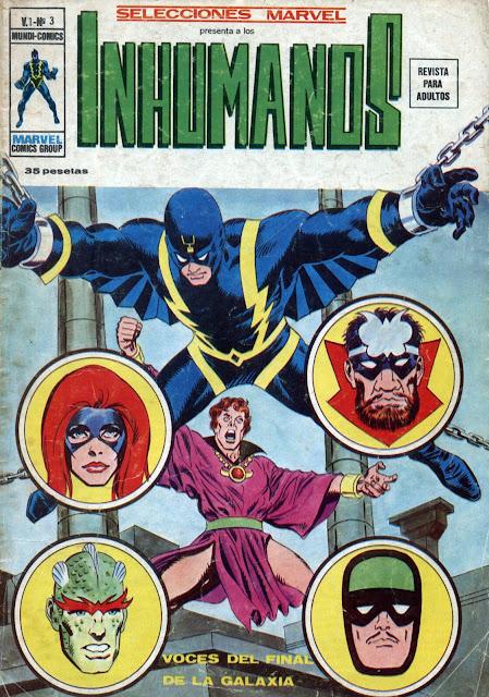 Portada de Los Inhumanos-Selecciones Marvel Volumen 1 Nº 3 Ediciones Vértice
