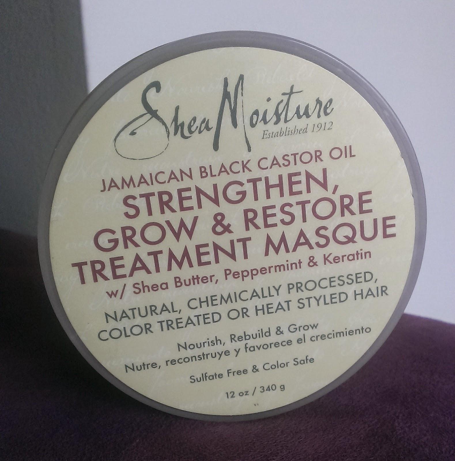 Shea Moisture Jamaican Black Castor Oil masque