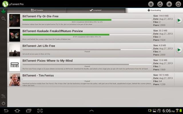 µTorrent® Pro - Torrent App Apk - Screenshoot