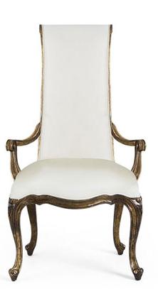 Kr sillas con reposabrazos para la mesa del comedor for Sillas de comedor elegantes