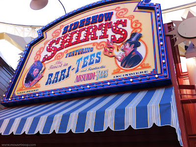 DCA Sideshow Shirts shop Paradise Pier DIsney California