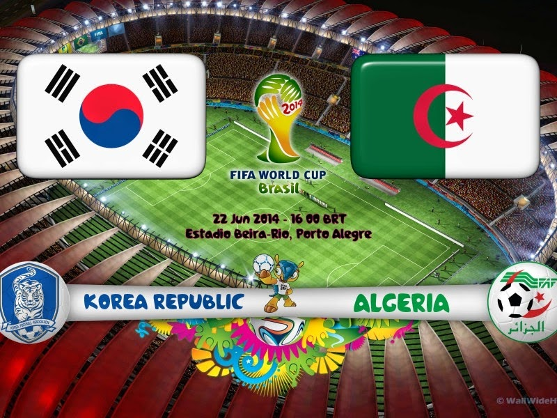 الجزائر وكوريا الجنوبية كأس العالم 2014