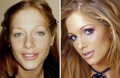 化粧前と化粧後