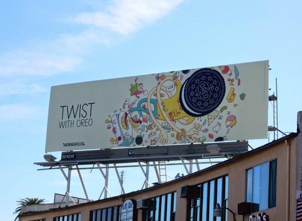 Twist with Oreo Wonderfilled billboard