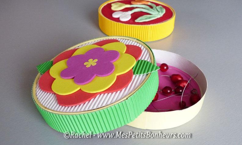 Amiga da educa o latinha decorada com papel o ondulado - Fabriquer une boite a bijoux avec une boite a chaussure ...