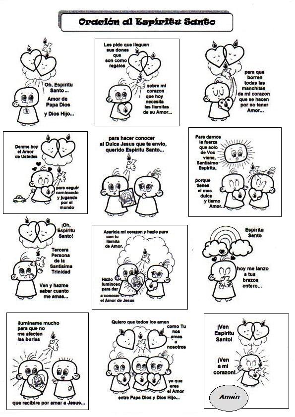 El Rincón de las Melli: Oracion al Espiritu Santo con dibujos