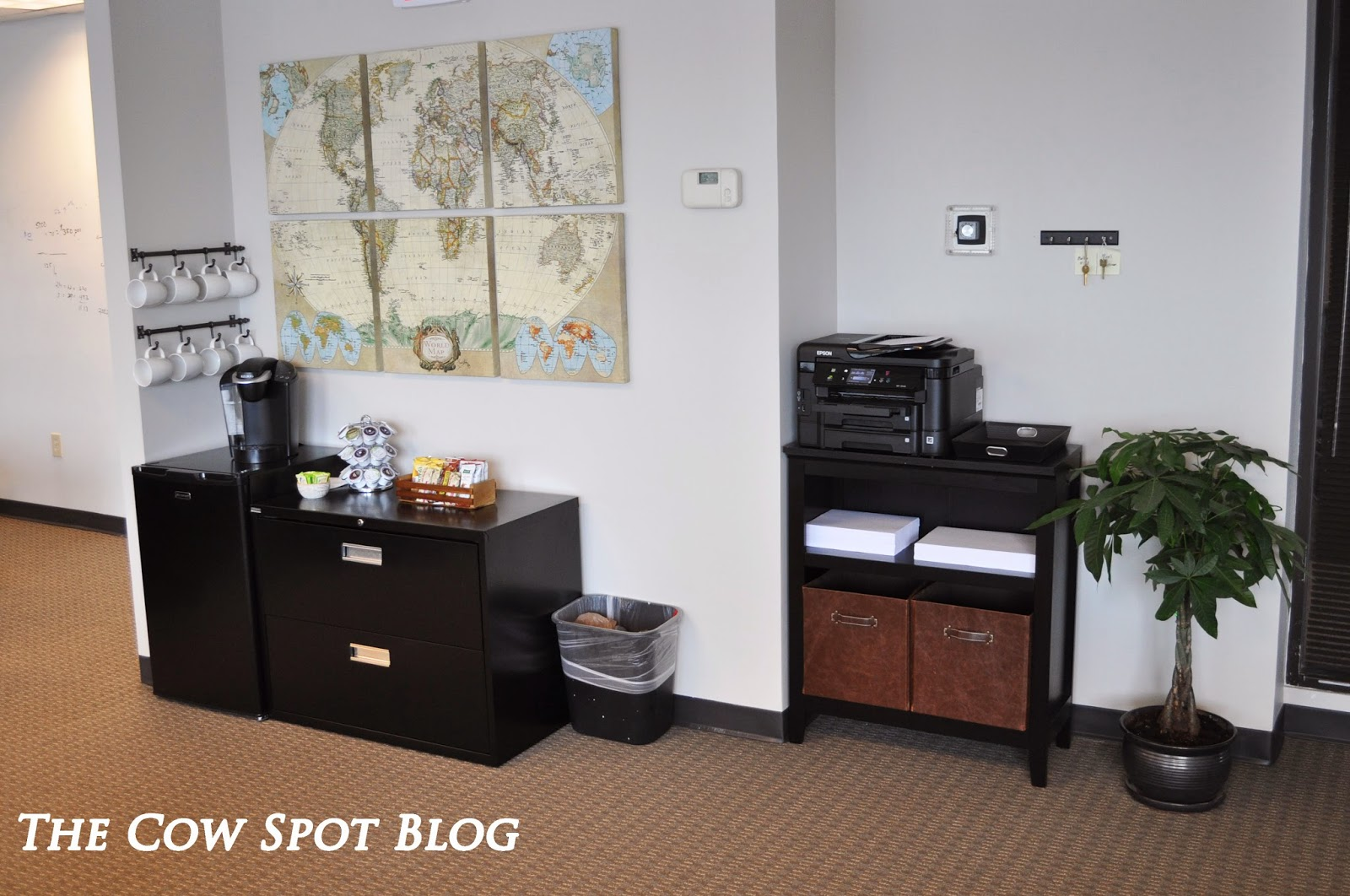The cow spot extreme office makeover for Coffee bar ideas for office