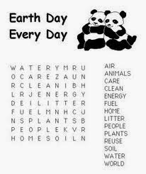 5 Easy Earth Day Word Search Printable For Kids