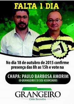 VOTE CHAPA 1 - ULISSES PRESIDENTE E LUIZ CARLOS VICE.