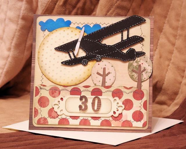 30 urodziny kartka urodzinowa z okazji trzydziestki samolot i papiery lemonade