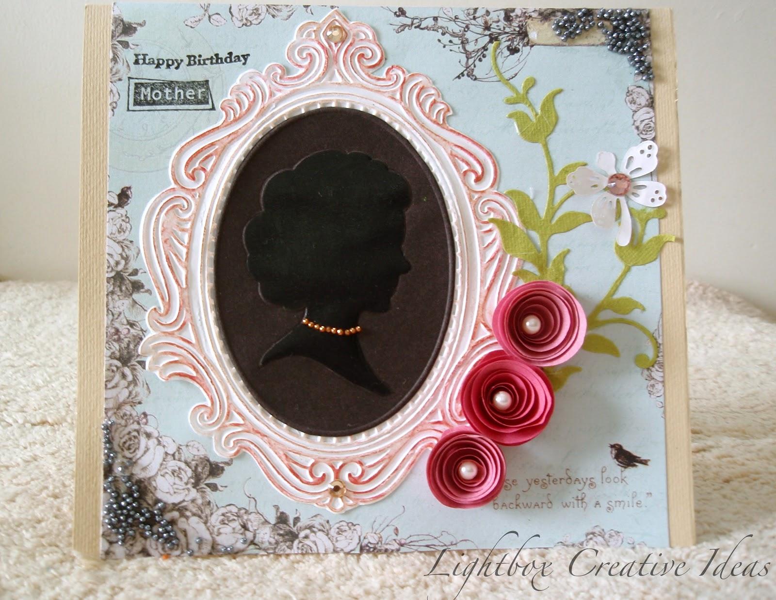 Lightbox creative Ideas: A birthday card for Mom