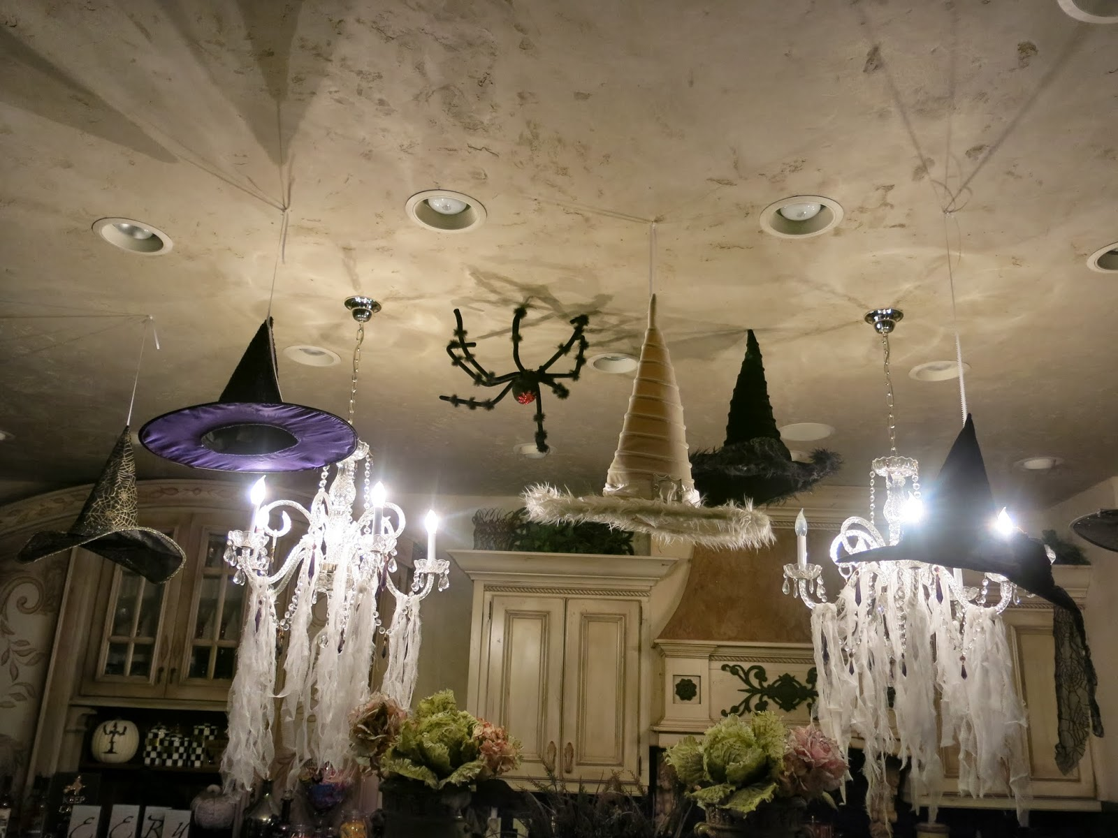 Cobwebs in my chandeliers purple chocolat home what with witches flying arubaitofo Images