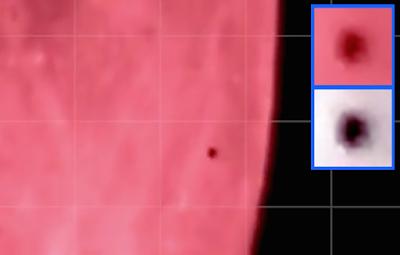 Black UFO Caught Near Blood Moon 2015, UFO Sightings