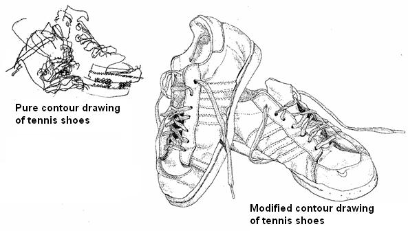 Teachertube Contour Line Drawing : Articulate sketchbook assignment due