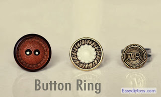 Handmade rings from coat buttons