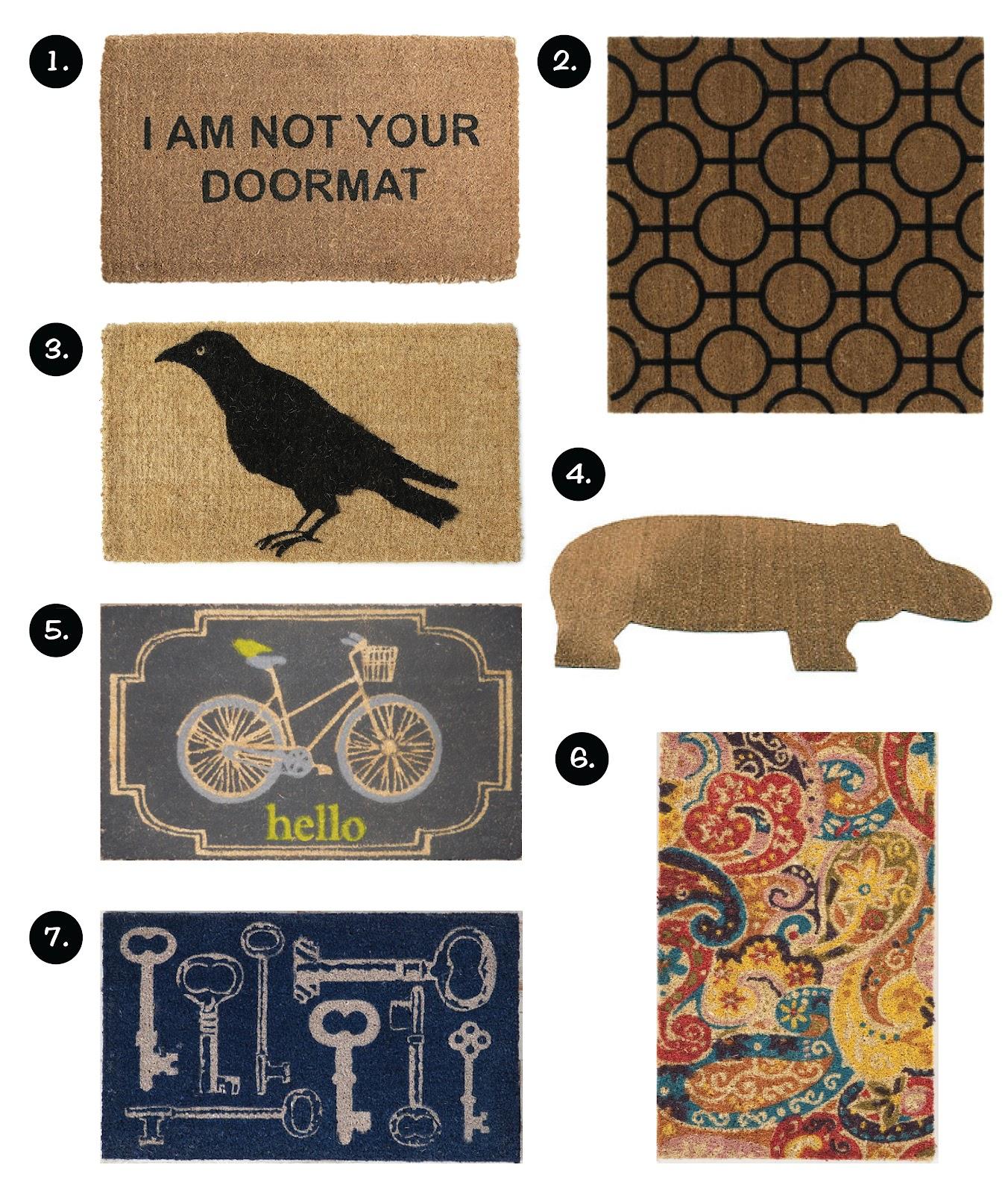here are shiraleah guests great bienvenue some door welcome doormats to mats mat cute