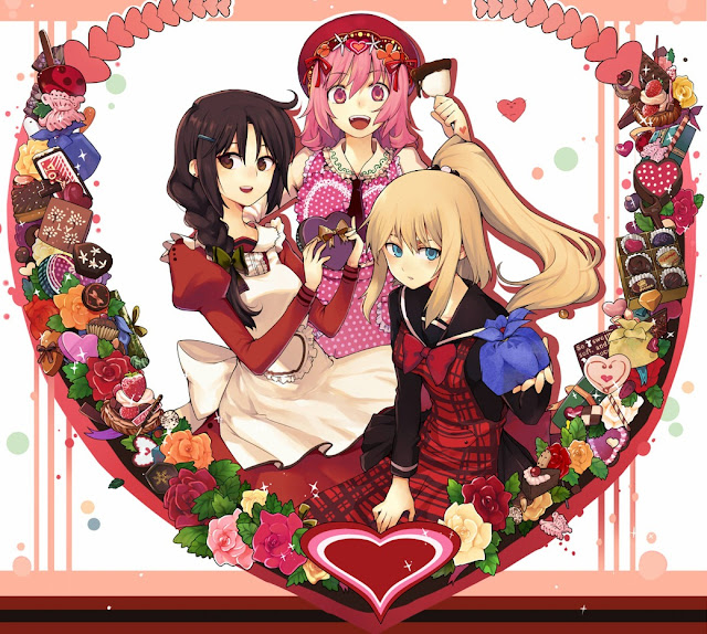 anime heart,anime valentines,valentines