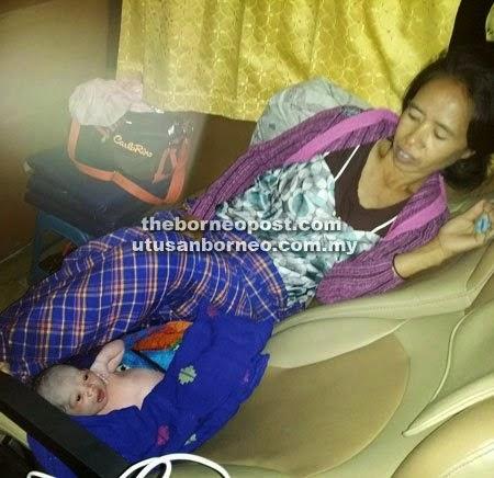 Wanita Ini Lahirkan Bayi Dalam Bas Ekspress