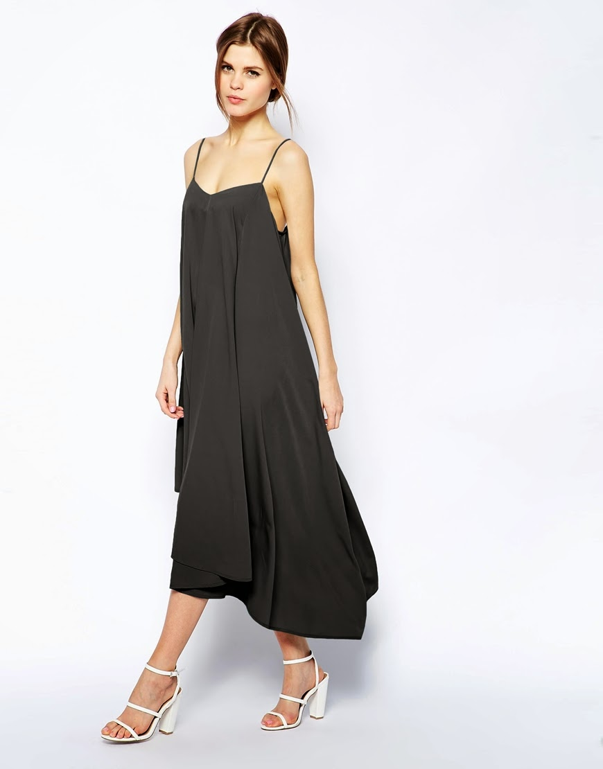 dark grey cami dress