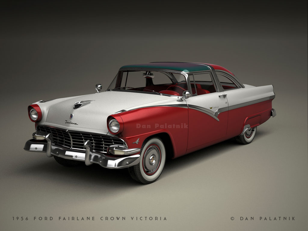 A garagem digital de dan palatnik the digital garage for 1956 ford crown victoria 2 door coupe
