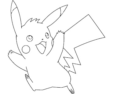 #2 Pikachu Coloring Page