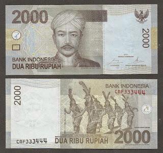 Pecahan 2000 Rupiah tahun 2009