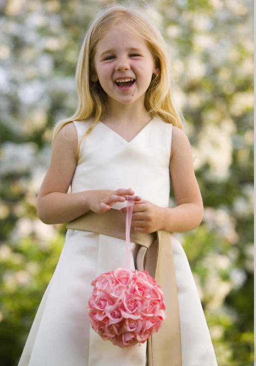 cute and beautiful white junior bridesmaid dresses