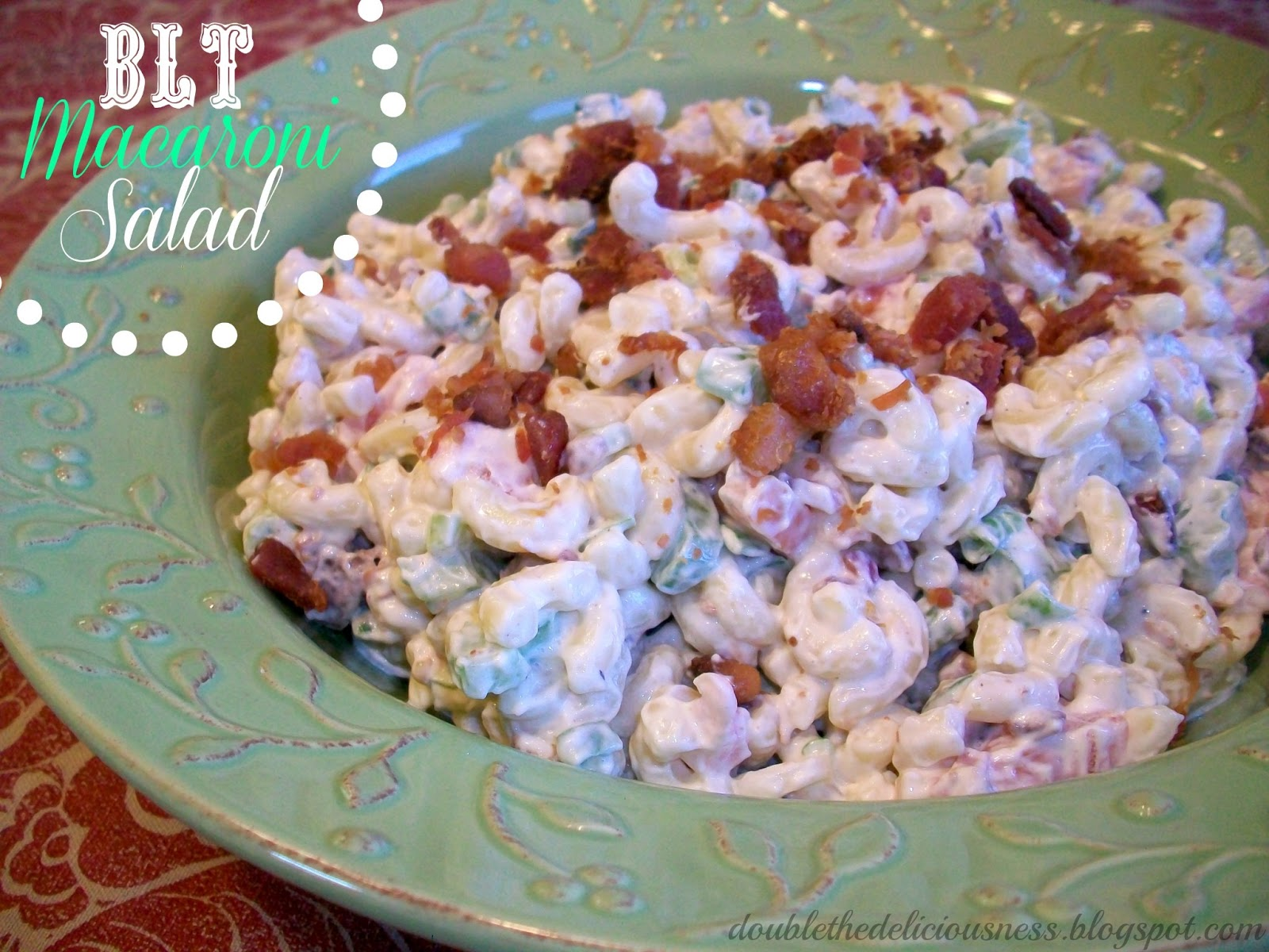 Double the Deliciousness: BLT Macaroni Salad