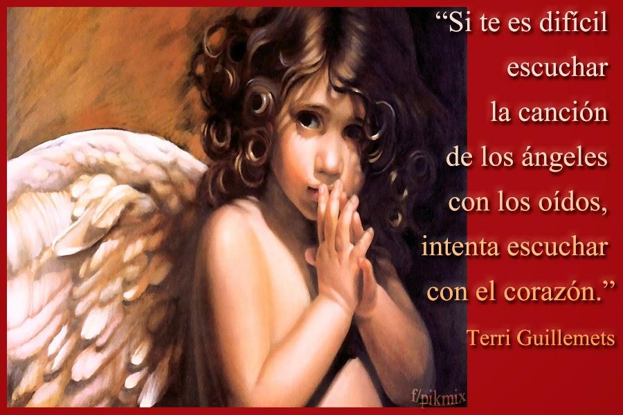 Escuchar con el corazón ~ Frases de Ángeles  ~ Ángel pequeño
