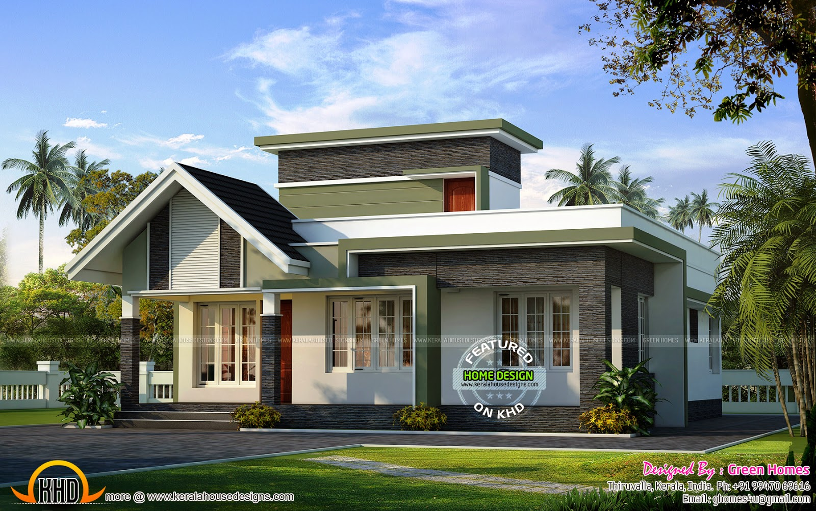 March 2015 kerala home design and floor plans for Small contemporary house plans in kerala