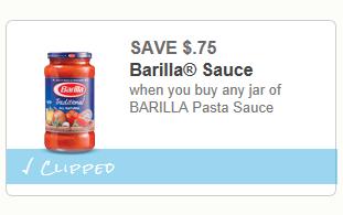 photograph regarding Barilla Printable Coupons identify Serious Couponing Mommy: $.75/1 Barilla Pasta Sauce