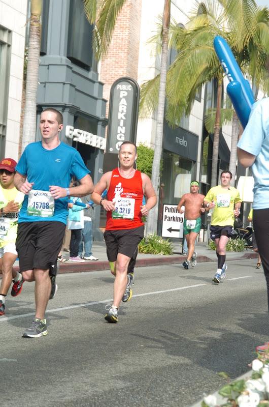 Running Rodeo Drive LA Marathon 2013