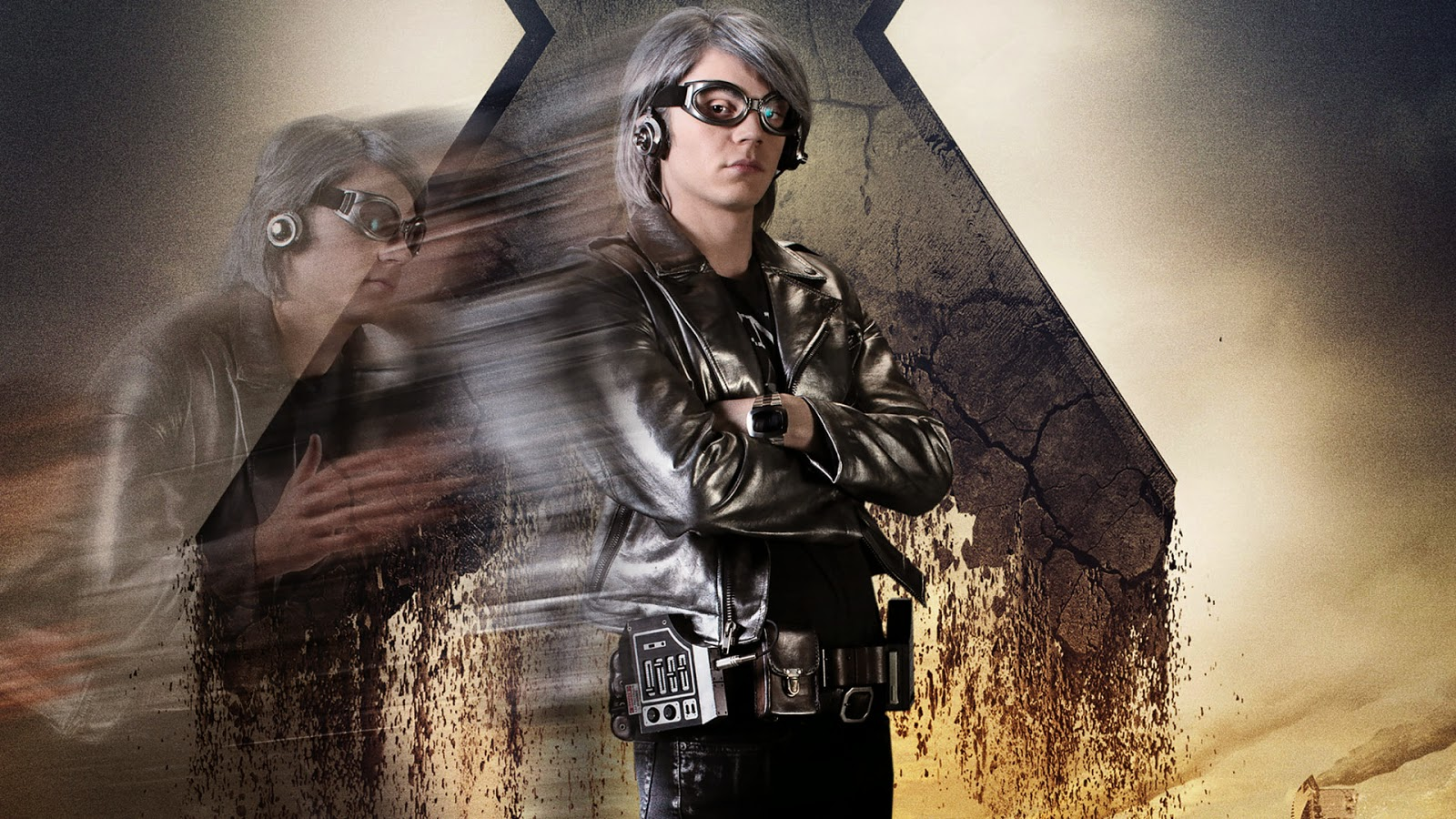 Lady Halloween Cosplay - Quicksilver from X-Men  Days of Future PastQuicksilver Days Of Future Past Cosplay