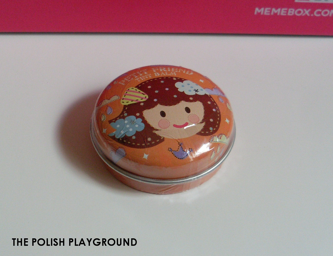 Memebox Superbox #49 All About Lips Unboxing - Shara Shara Petit Friend Tint Balm OR01 Crown Orange