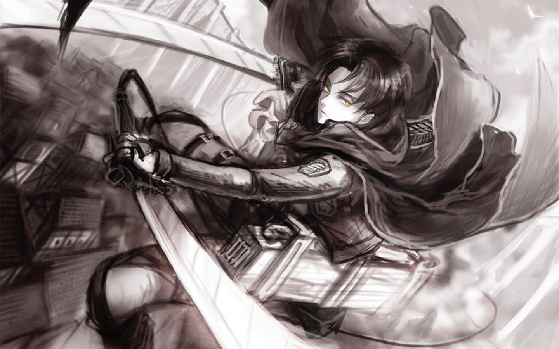 levi titan attack on titan shingeki no kyojin hd wallpaper 1440x900 5j ...