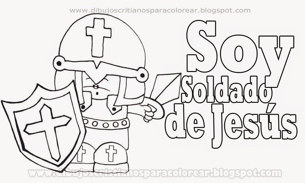 Soldado de Jesus para colorear - Dibujos cristianos ~ Dibujos ...