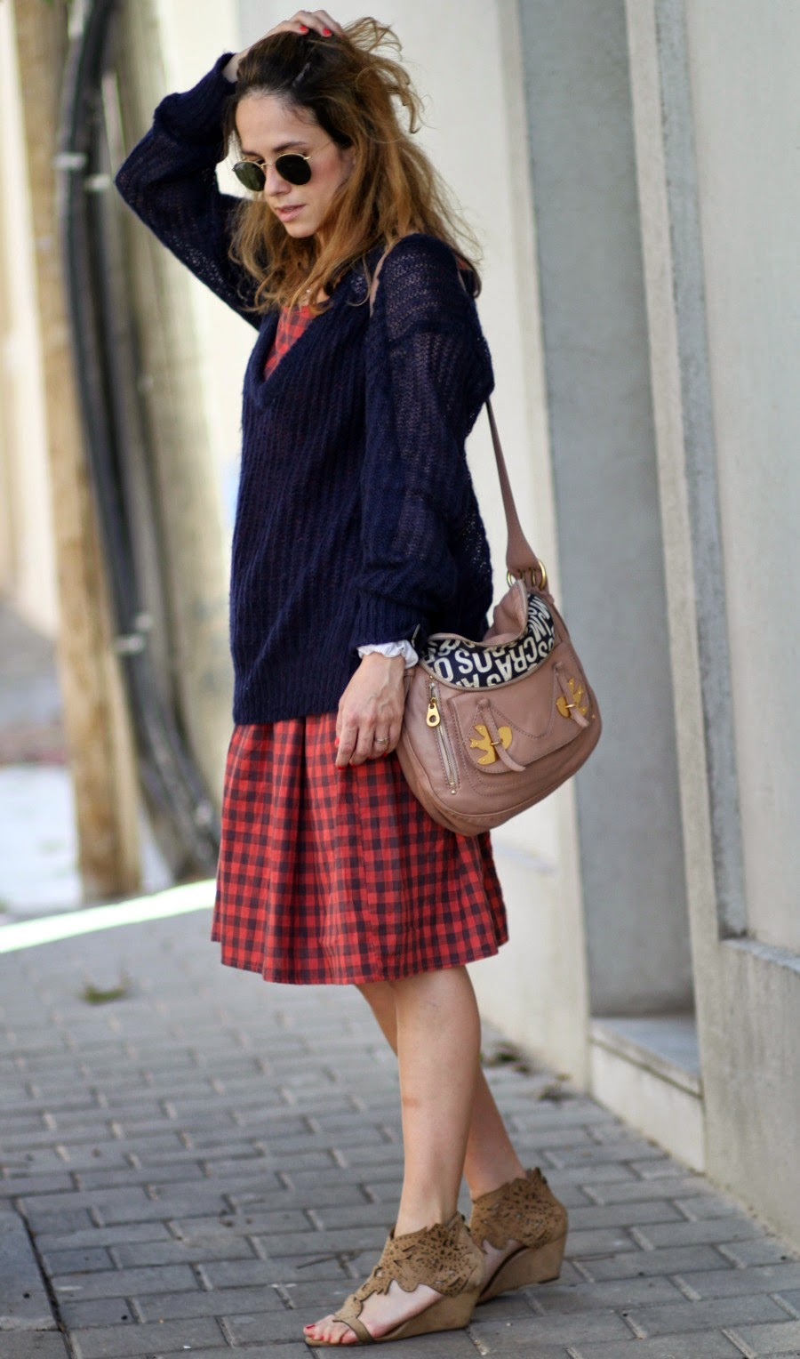 Gingham, dress, paris, pfw, coffee, style, lookoftheday, ss15, blog, fashionblog, בלוגאופנה, אופנה