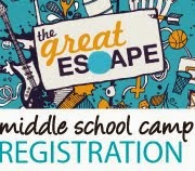 middle school camp ONLINE registration