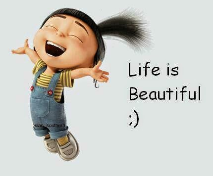 Life is beautiful - cute kid jumbing  photo comment