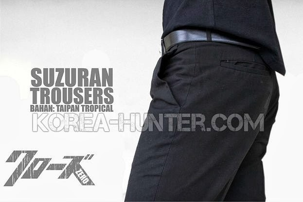 KOREA-HUNTER.com jual murah Suzuran Trouser - Crows Zero | kaos crows zero tfoa | kemeja national geographic | tas denim korean style blazer