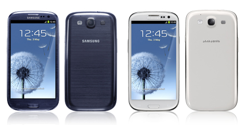 Galaxy S III Blue and White Pebble