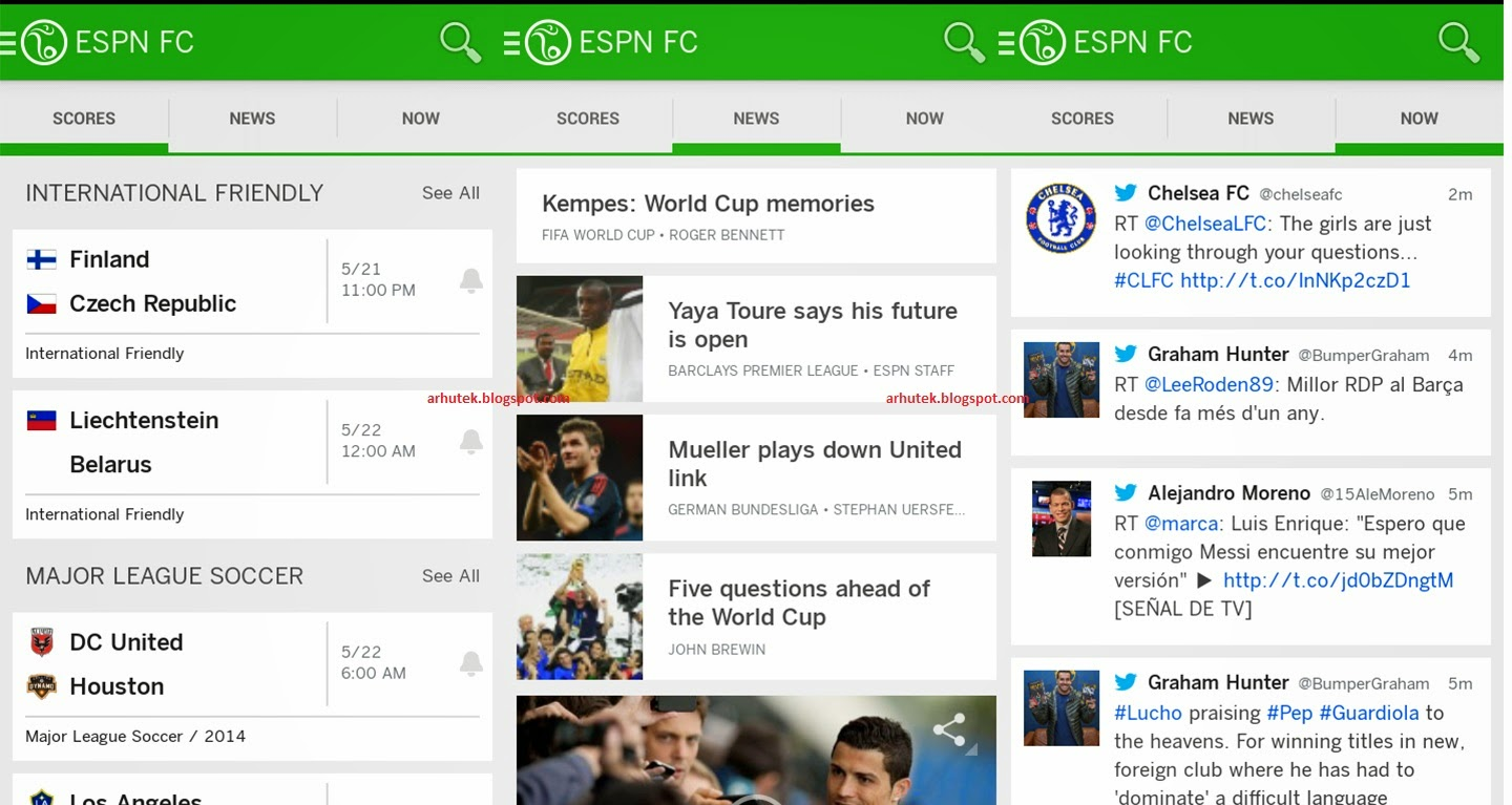 Aplikasi Skor Bola di Android (Review ESPN FC Soccer & World Cup)
