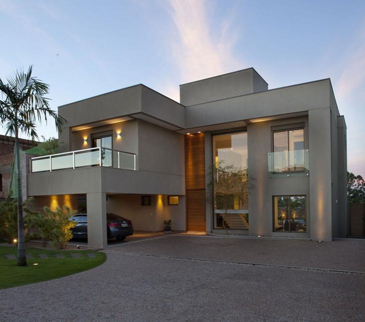 Casa brasileira com arquitetura e decora o moderna - Pintura casa moderna ...
