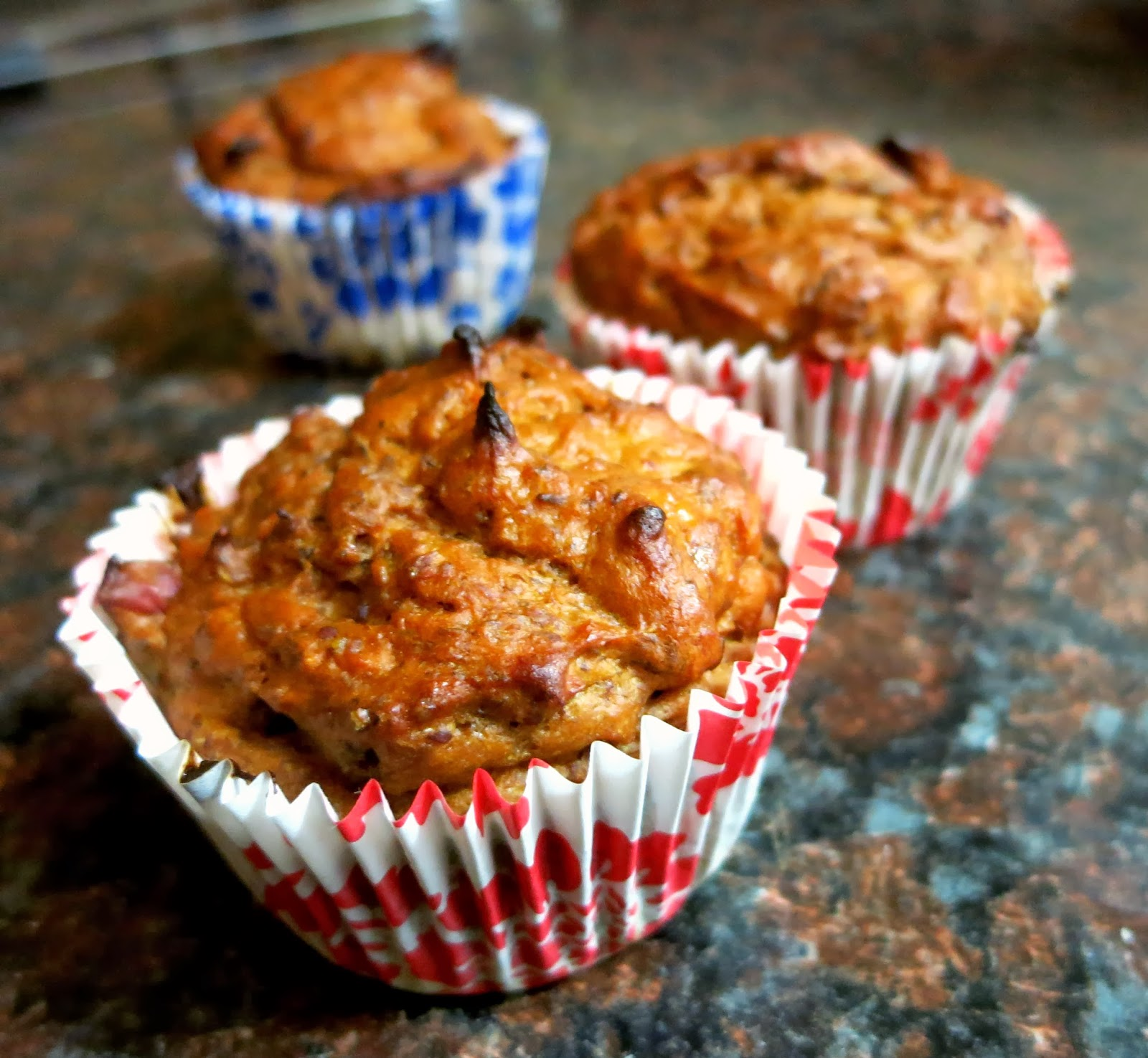 Cranberry Sweet Potato Protein Muffins
