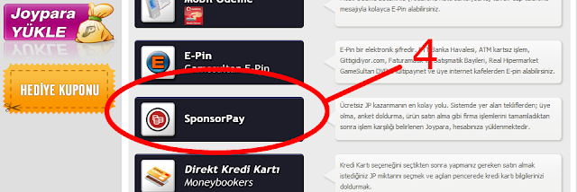 4   Bedava JoyPara Kazan (Nakit)