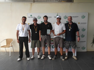 Els 5 primers classificats Campionat Catalunya 2012 de Pitch & Putt de 2ona categoria