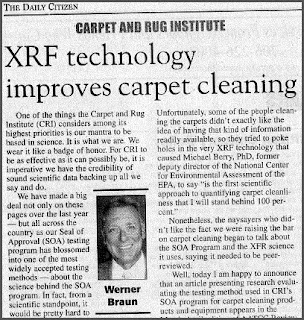 Carpet Cleaning & XRF Technology: Werner Braun