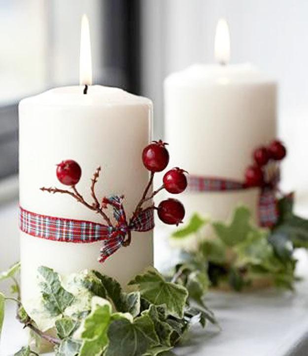 Ideias De Natal ~ Bricolage e Decoraç u00e3o Sugestões para Decorar o seu Natal com Velas!